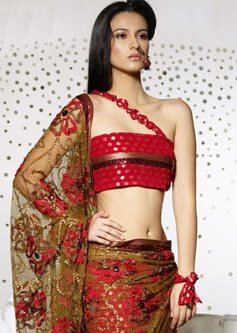 One Strap Saree Blouse