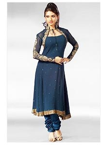 Anarkali Churidar Suits with Jacket