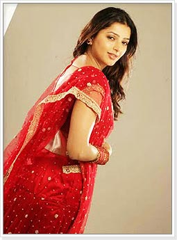 Bhumika Chawla in Red Bridal Saree