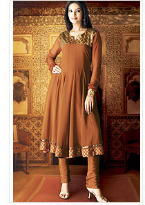 grace to this designer salwar suit anarkali style churidar kurta