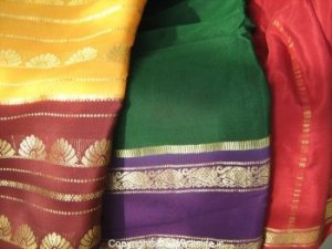 Embroidered Tinsel Sarees