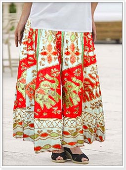 Patchwork Ethnic Skirt