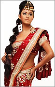 Indian Red Traditional Saree