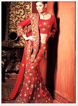 Fish Cut Mermaid Style Bridal Lehenga