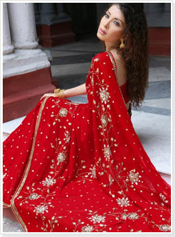 Red Bridal Saree