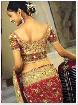Embroidered Red Bridal Saree