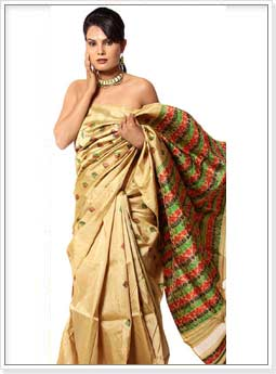 Assam Golden Muga Silk Sarees