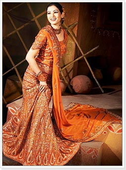 Orange Indian Wedding Bridal Lehenga