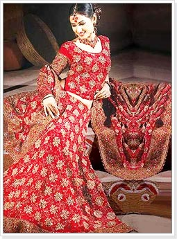 Red Indian Wedding Lehenga